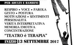 """Corsi di recitazione per ragazzi e adulti dal 13 settembre 17- Stage """"Teatro e follia"""" con Matteo Gazzolo"""