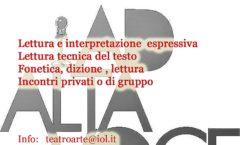 Corsi di Recitazione teatrale all'Associazione Carducci di Como e nei centri civici del Comune di Como dal 18 settembre 2018